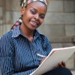 African American college student or PA — Stock Photo