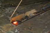Red hot welding metalwork — Stock Photo