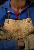 African welder — Stock Photo