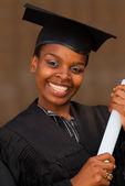 アフリカ系アメリカ人大学生卒業 — ストック写真