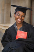 Graduating college student — Stock Photo