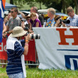Stock Photo: Photographer or photo journalist captures images at the 2013 Midmar Mile swimming event, South Africa