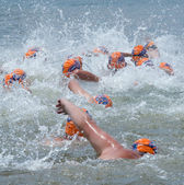 Swimmers in Midmar Mile event — Stock Photo