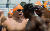 Swimmers in Midmar Mile event — ストック写真