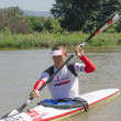 Top international paddler, Michael Odvarko, prepares for the start of The Unlimited Dusi canoe marathon, Pietermaritzburg, KwaZulu-Natal, South Africa, 13 February, 2013. - Stock Photo