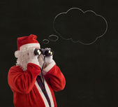 Father Christmas Business Strategy idea thought bubble — Stock Photo