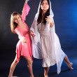Beautiful girls dancing — Stock Photo