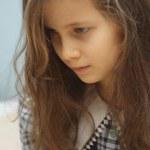 trauriges Mädchen — Stockfoto