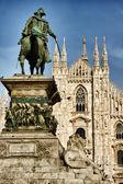 Piazza del Duomo in Milan — Stock Photo