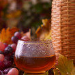 Wine in the autumn surroundings. — Stock Photo