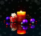 Christmas lights on a dark background. — Stock Photo