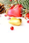 Christmas tree garland — Stock Photo