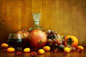 柿子、 石榴和柑橘类水果 — 图库照片