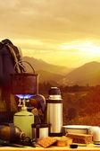Camping equipment — Stock Photo