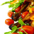 Stock Photo: Roast chicken with vegetables