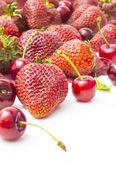 Strawberries and Cherries — Stock Photo