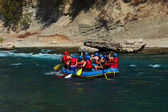 Rafting on the river — Stock Photo
