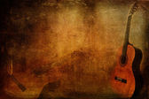 Grunge Background Guitar — Stock Photo