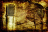 Condenser microphone background — Stock Photo