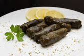 Stuffed vine leaves — Stock Photo
