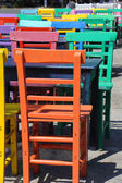 Colorful chairs — Stock Photo