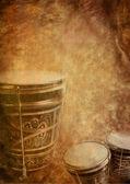 Grunge background bongo — Stock Photo