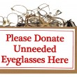 Stock Photo: Eyeglass Donation Box