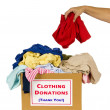 Donating Clothes — Stock Photo