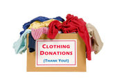 Clothes Donation Box — Stock Photo