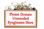 Eyeglass Donation Box — Stock Photo