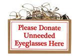 Eyeglass Donation Box — Stock Photo