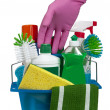 Reaching For Cleaning Products — Stock Photo