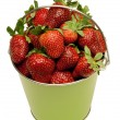 Pail Full of Fresh Strawberries — Stock Photo