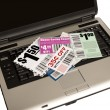 Stock Photo: Laptop With Coupons Represents Online Coupons XXXL