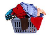 Laundry Basket Of Clothes — Stock Photo