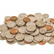 Dirty, Worn Out Coins In A Pile XXXL — Stock Photo