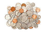 Pile Of Coins XXXL Isolated — Stock Photo