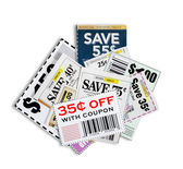 Coupons Close Up XXXL Isolated — Stok fotoğraf