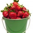 Strawberries In Pail Isolated On White — Stock Photo