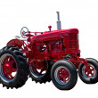 Big Red Farming Tractor On White — Stock Photo #26434101
