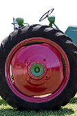 Large Vintage Red Tractor Tire — Stock Photo