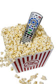 Watching Movies At Home — Stock Photo