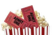 Movie Night On White Background — Stock Photo