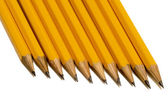 Yellow Pencils Shot On An Angle — Zdjęcie stockowe
