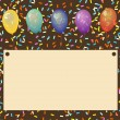 Birthday background with balloons and place for text — Stock Vector