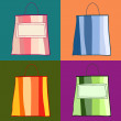 Stock Vector: Colorful shopping bags