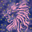 Stock Photo: Lion constellation