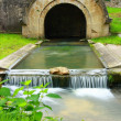 Stock Photo: Water Canal in small town