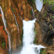 Waterfall falling to river — Foto Stock