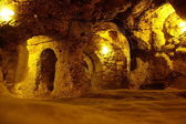 Derinkuyu underground city — Stock Photo